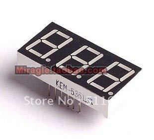 LOCHI 10 PCS LD-5361AG 3 Digit 0.56
