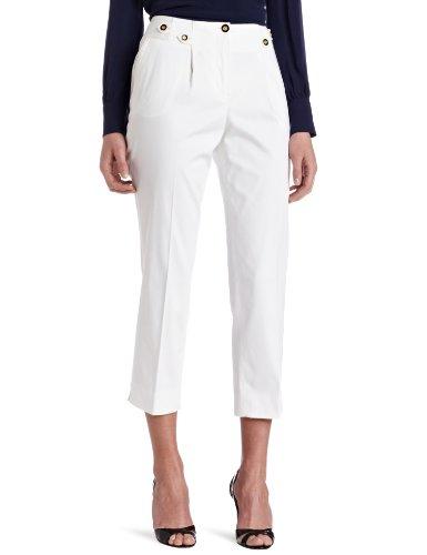 Jones New York Women's Slim Leg Pleated Side Tabs Capri Pant