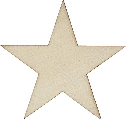 50 Small 1 inch size wood stars