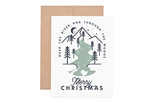 Over the River Holiday Letterpress Greeting Card