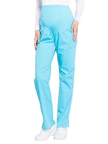 (Cherokee WW Professionals WW220 Maternity Straight Leg Pant Turquoise XS)