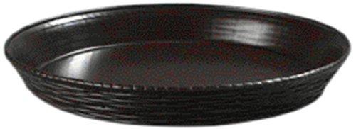 Carlisle 652601 WeaveWear Polypropylene Round Basket, 1.8 qt. Capacity, 11-7/8 Dia. x 1-1/2'' H, Brown (Case of 12) by Carlisle