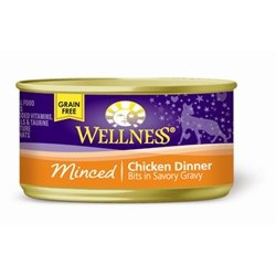 Wellness Grain-Free Minced Chicken Dinner Canned Cat Food (3 oz. (24 in case))