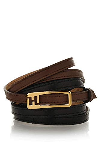 FENDI CHAMELEON Double Ride Black Brown Belt