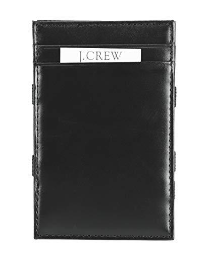 J.Crew Mercantile Men's Genuine Leather Magic Wallet (Black)