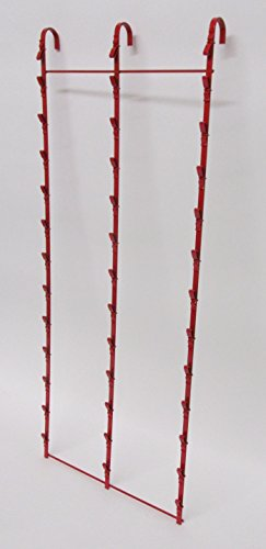 New Retail Hanging Clipper Display Grid Panel Rack 36 Clips Red by Counter Display (Image #1)