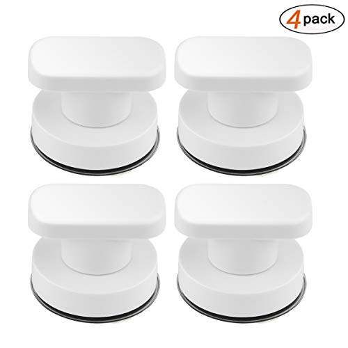 DDSKY 4-Pack Strong Suction Cup Drawer Glass Mirror Wall Tile Handles Toilet Bathroom Door Pulls Glass Door Pull Adsorbent Handle and Knobs by DDSKY