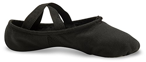 Danshuz Girls Pro Soft Canvas Slip-on Casual Pisos Negro