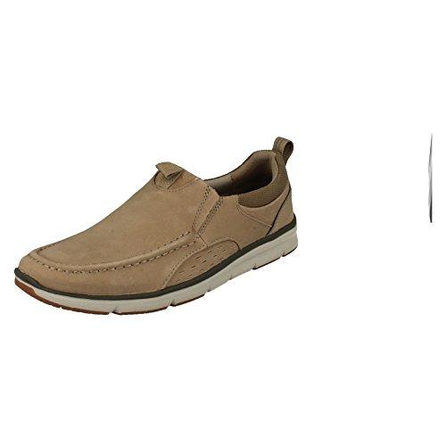 Clarks Adulte Sport Sport Homme Chaussures Orson Row En Nubuck Beige