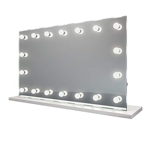 (Diamond X Hollywood Makeup Vanity Mirror with Daylight Dimmable LED k413sCW)