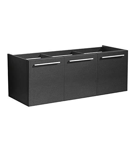 Black Single Door Medicine Cabinet - Fresca FCB8092BW Vista 48
