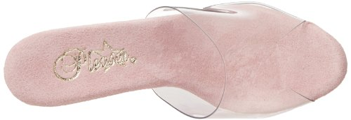 Pleaser Adore-701ls - Sandalias Mujer - Clear/B.Pink