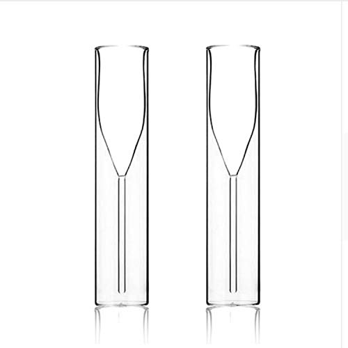 Champagne Glass Double Wall Glasses Flutes Goblet Bubble Wine Tulip Cocktail Wedding Party Cup Toast,2 cups,115ml