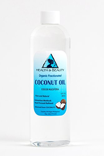 Coconut Oil Fractionated MCT Organic Carrier Ultra Refined Premium 100% Pure 12 oz