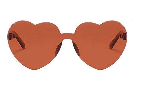 Pc Corazones Películas Gafas Gafas C2 Sol Marinas Love C6 Mujer De De Sol De Gafas JUNHONGZHANG Sol Tendencia De Melocotón Marco Sin Sol Gafas O1wxSnqCWz