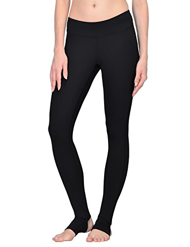 Baleaf Women's Yoga Pants Barre Workout Stirrup Leggings Black Size M