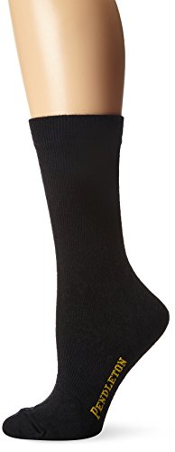Pendleton Women's Solid Trouser Socks, Black, Medium(6-10) (Wool Trousers Spandex)
