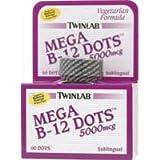 TWINLAB B-12 DOTS,5000 MCG, 60 DOT