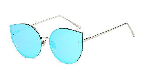 de moda gato de metal de sol de frame GLSYJ blue gafas sol Ojos ice de Mails gafas marea Silver sol LSHGYJ gafas xCwfAqnY8C