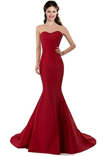 - Color E Dress DESIGN Brief Elegant Mermaid Sweetheart Evening Dress Size 2 Burgundy