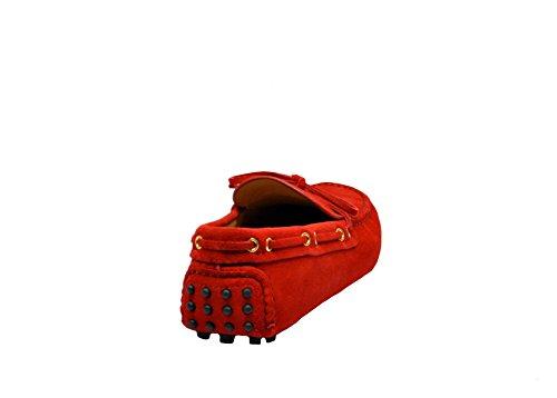 Car Shoe Mocassini Uomo KUD006F0F24ROSSO Camoscio Rosso