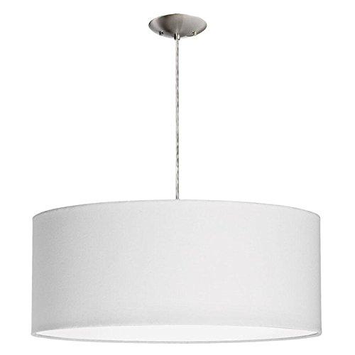 Dainolite Lighting 3-Light Pendant with White Shade, Satin Chrome Finished (Dainolite Satin Pendant)