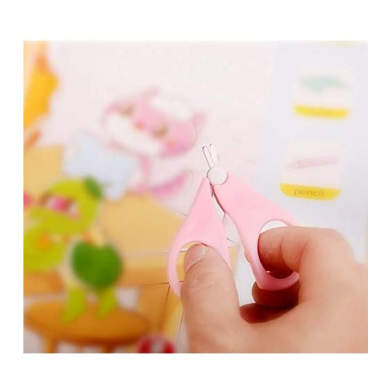 NIRVA WITH DEVICE OF WOMEN PICTURE SGD Baby's Stainless Steel ABS and PP Safety Manicure Nail Cutter Clipper Scissors