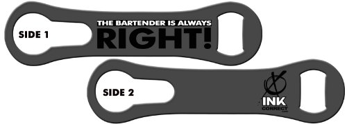 Cheap V-ROD™ Bone Bottle Opener and Pour Spout Remover: The Bartender is Always Right: Gunmetal