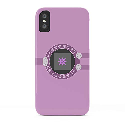 Society6 iPhone X Cases, Featuring Digivice Phone | Pink, Hikari Yagami Version by manuluce