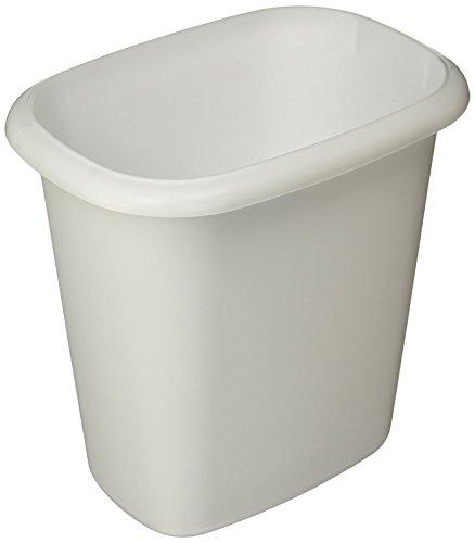 Rubbermaid Vanity Trash Can Wastebasket 6.0 quarts (FG295300WHT) (Rubbermaid Waste Baskets)