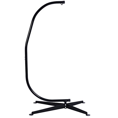 HPD Solid Steel C Hammock Frame Stand Construction Hammock Air Porch Swing Chair