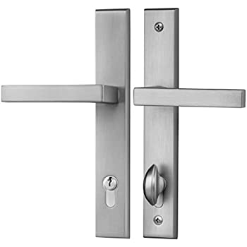 Swing Door Multipoint Handleset In Brushed Nickel Finish