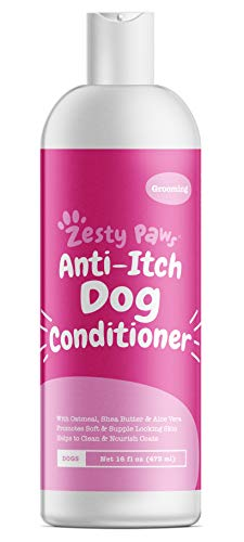 Dog Conditioner with Oatmeal, Aloe Vera & Shea Butter – Natural Grooming Pet Wash for Skin & Coat – Anti Itch Formula…