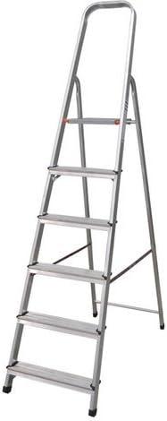 Escalera Tijera Plegable 6 Peldaños en Aluminio. Escadote 6 degraus. Hecho en Europa: Amazon.es: Bricolaje y herramientas