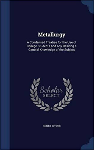 Download Metallurgy: A Condensed Treatise for the Use of College Students and Any Desiring a General Knowledge of the Subject PDF