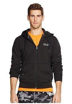 Polo Ralph Lauren Sport Men's Full Zip Fleece Hoodie Sweatshirt (X-Large, Black)
