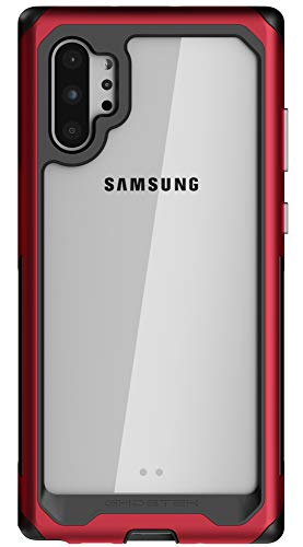 Ghostek Atomic Slim Designed for Galaxy Note 10 Plus Case / Note10+ 5G Clear Metal Bumper with Advanced Reinforced Dual Layer Design & Aluminum Frame for Note 10+ / Note 10 Plus 5G (2019) - (Red) (Cheap Otterbox Cases For Galaxy Note 3)