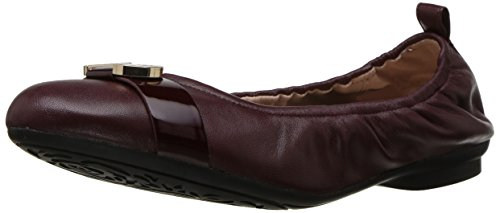 Taryn Rose Women's Abriana Nappa/Soft Patent Ballet Flat, Wine/Wine, 8 M Medium US by Taryn Rose