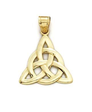 14 Carats Pendentif nœud celtique JewelryWeb