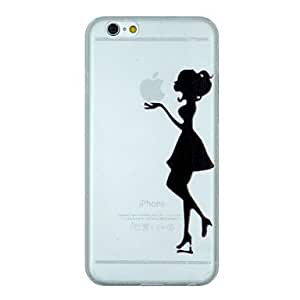 ZL The Girl Holding The Apple Pattern PC Hard Transparent Back Cover Case for iPhone 6 Plus
