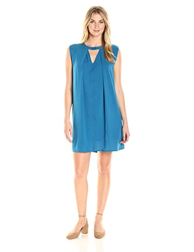 James & Erin Women's Sleeveless Trapeze Shift Dress