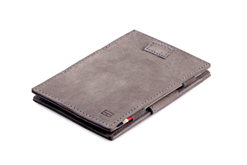 Leather Metal Garzini Grey Sleeves RFID Card Cavare Magic Wallet Vintage OPcqF6