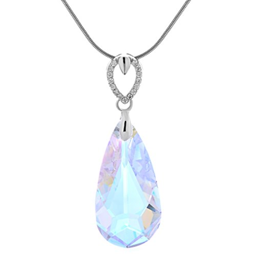 [925 Sterling Silver Pendant Necklace with Swаrovski Aurora Borealis Crystаl - Designed & Made in] (Mens Sports Costume Ideas)
