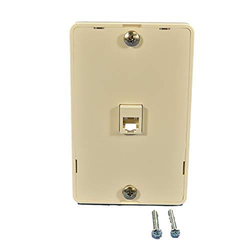 - Leviton 40914-T Telephone Wall Phone Jack, 6P4C, Screw Terminal, Light Almond