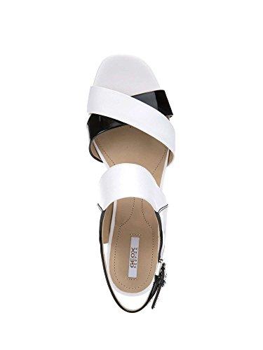 Geox D724XA 06685 Sandalo tacco Donna Bianco 36½