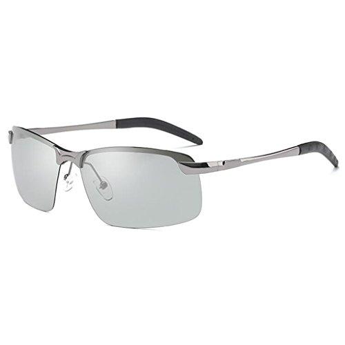 Color QZ Polarizada Gafas Y Día Noche Que Pescar Color Sol De Plata Negro Cambian Controladores De Luz HOME Conducir Gafas La Twnq1x8T