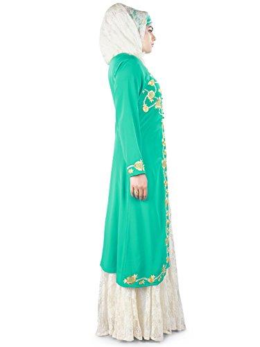 Gestickte Abaya Ausgestelltes MyBatua Frauen schön EqAW6Y