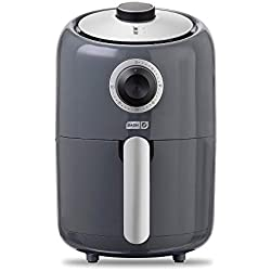 Dash Compact Air Fryer 1.2 L Electric Air Fryer Oven Cooker with Temperature Control, Non Stick Fry Basket, Recipe Guide + Auto Shut off Feature - Grey