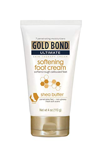 - Gold Bond Ultimate Softening Foot Cream with Shea Butter, 4 Ounce, Leaves Rough, Dry, Calloused Feet, Heels, and Soles Feeling Smoother and Softer. | ⭐️ Exclusive