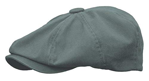 - Rooster Washed Cotton Newsboy Gatsby Ivy Cap Golf Cabbie Driving Hat (XX-Large, Cobalt Grey)
